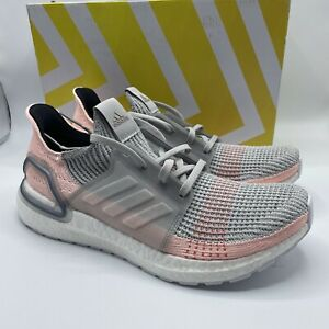 Adidas UltraBoost B75881 Grey Pink white Running Shoes womans Size 11 mens 9.5
