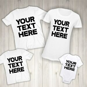 Personalised T-shirt - Matching Family Clothing Children Names Bodysuit Mum Gift