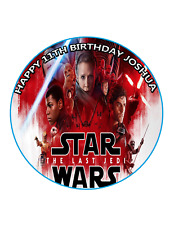 STAR WARS Cake Topper Image Personalised Birthday Decoration Party