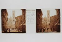 Florence Firenze Italia Placca N6 Lente Stereo Vintage 1938