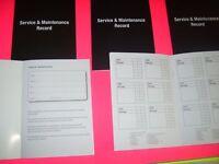 Generic Service History Book Blank Vauxhall Astra Cavalier Corsa Vectra Cars