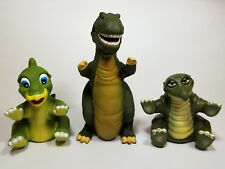 Land Before Time Puppets Plastic Vtg Sharptooth T Rex Ducky Spike Dinosaur Lot 3