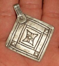 55mm Pendentif Argent Ancien Maroc Antique Ethnic Moroccan Silver Berber Pendant