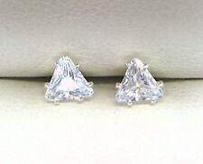 925 STERLING SILVER DIAMOND EARRINGS STUD CREATED 5mm  UK seller
