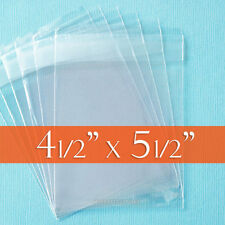 "300 Clear Cello Bags 4 1/2"" x 5 1/2"",Resealable Cellophane 4.5x5.5 inch OPP Poly"