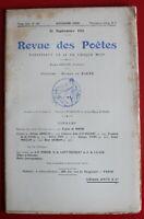 1911 - Revue des Poètes - N° 160 - Gaston Armelin, E. de la Sauge, Pierre Fons