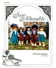 "Sew Adorable 18"" American,Girl Doll Clothes Sewing Pattern, Doll Scout Uniform"