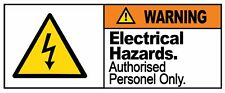 WARNING - ELECTRICAL HAZARD - Self Adhesive Label 100mm x 148mm 4ct