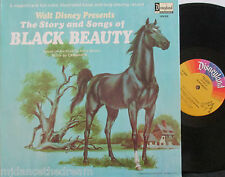 WALT DISNEY BLACK BEAUTY ~ Story & Songs ~ GF VINYL LP USA PRESS & BOOKLET
