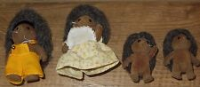 vintage sylvanian families hedgehogs family of 4 'Free post'