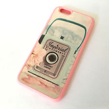 for iPhone 6 / 6S -PINK Vintage Camera Box Hard TPU Gummy Rubber Skin Case Cover