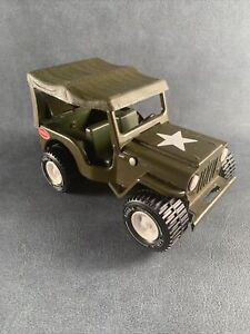 Vintage Tonka Army Military Jeep With Canopy