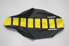 "New ""Suzuki"" Yellow/Black Ribbed Seat cover RMZ250 2010-2015"