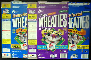 1998 Wheaties, All-Star Boxes, Lot of 3 Flat, 2 Different, AROD, McGwire, FrShp