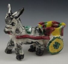 Vietri Gambone 1950's Italy Pottery Donkey With Cart Figurine Rare #67