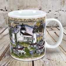 Donna Elias Coffee Mug Tea Cup Great American Lighthouse CA California Lights