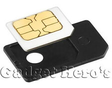 MICRO SIM Card Adapter To Regular SIM Converter iPHONE iPAD Playbook Black