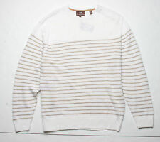 Hickey Freeman Mohogany Collection Stripe Sweater (L) Ivory 5M245204