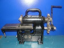 Antique Hand Operated Metal Slitting Machine with Adjustable Work Fence
