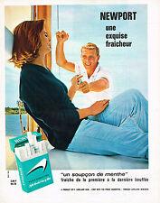 PUBLICITE ADVERTISING  1965   NEWPORT  cigarettes un soupçon de menthe
