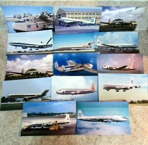 Lot of (14) Misc. Airplane Postcards, Mostly Eastern, Pan Am, Standard Size