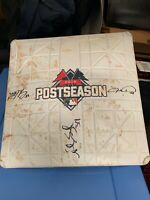 Mets Game Used 2015 NLDS base Signed by deGrom, Syndergaard, Harvey