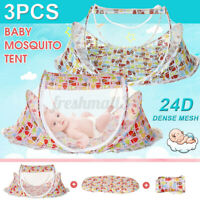 3Pcs/set Portable Foldable Home Baby Infant Mosquito Net Tent Travel Bed
