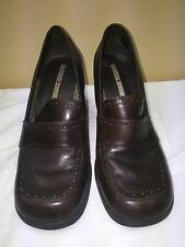 TOMMY HILFIGER HIGH HEEL WOMEN SHOES  SIZE 8M BROWN UPPER LEATHER