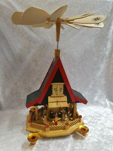 Große Pyramide Weihnachten Adventshaus Geburt Christi ca. 44 cm #781