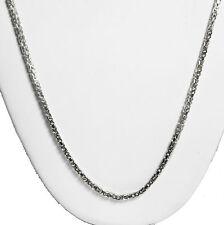 "13 gram 14k Gold White Solid Men's Women's Byzantine Chain Necklace 20"" 2 mm"