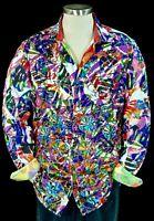 Robert Graham Burgundy Aromas NWT 485 Limited Edition Embroidered Shirt 1XLB 3XL