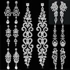 Elegant Women Crystal Rhinestone Chandelier Earrings Jewelry Wedding Party Gift