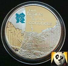 2009 £5 Five Pound PAGEANTRY London 2012 Olympic Games Silver Proof Crown Coin