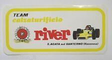 Old car sticker f1/Old Sticker Team River S. Agate on Santerno (16x8 cm)