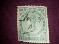 South Africa 1864, 1 Penny green, Cape of Good Hope Revenue Stamp. Free UK P&P.