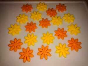 Edible Icing Flowers Cake decoration 20 pcs