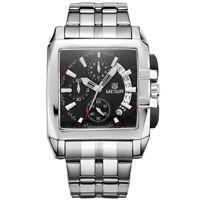 Megir New Business Stainless Steel Quartz Watch Men's Luxury Watch Chronograph