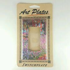 Art Plates Monet The Artists Garden Switch Plate Single Rocker Handcrafted USA