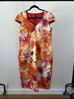 Vintage Satin Floral Watercolour Shift Spring/Summer Dress - One Of A Kind