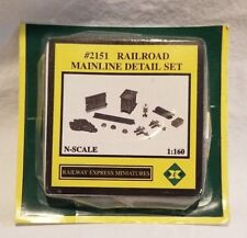Railway Express Miniatures N-Scale 1:160 #2151 Railroad Mainline Detail Set