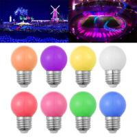 Round 1W 220V E27 Globe Lamp Colorful Golf Ball Light  Led Bulb