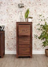 Mayan Solid Walnut Dark Wood 3 Drawer Filing Cabinet
