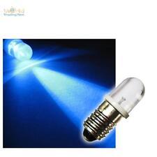10 E10 LED-Lampen Schraubsockel BLAU 12V DC LEDs BIRNE