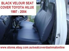 BLACK VELOUR BENCH SEAT COVER  WITH SMALLSTICK  CUT OUT TOYOTA HILUX 1997-2004