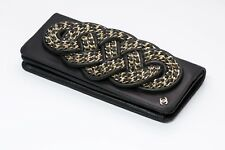 CHANEL CC Black Leather Chain Clutch Bag