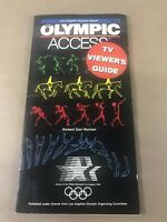 1984 Los Angeles Olympic Games Olympic Access TV Viewers Guide Booklet H6