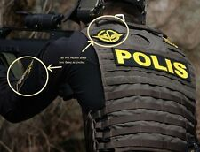 FANCY DRESS COSTUME movie GIRL PLAYED w/FIRE PROP: SWEDISH POLICE Polisen SWAT