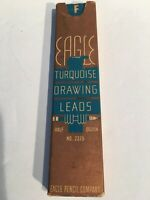 Vintage Eagle Turquoise Drawing Leads F 1/2 Dozen No 2375 NOS 1935 Made in USA