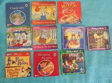 8 Childrens dvds & 2 Ladybird cds Puss in Boots Peter Pan Rapunzel Tom Sawyer
