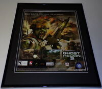 Tom Clancy Ghost Recon 2 2005 Xbox Framed 11x14 ORIGINAL Advertisement